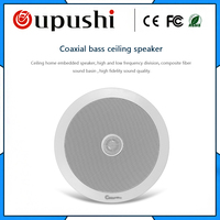 10 20W High class coaxial ceiling loudspeakers 6.5 inch audio ceiling speaker