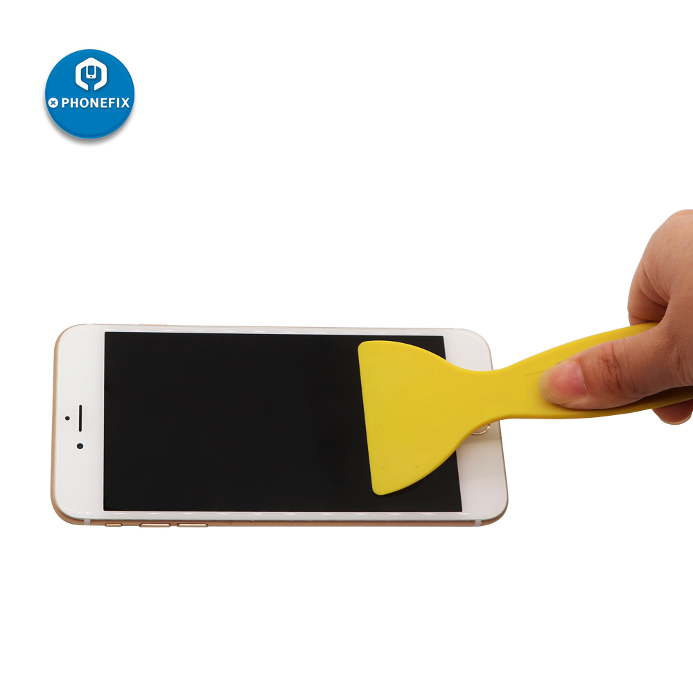 Yellow Black Driving Film Bubble Out Shovel Remover Plastic Glue Scraper Sticking Phone Protective Film Desmearing Cleaning Tool