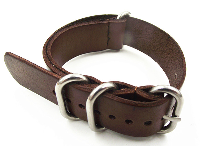 Wholesale 10PCS/lot High quality 22MM Nato strap genuine leather coffee color Watch band NATO straps zulu strap watch strap-0107 wholesale 10pcs lot 18mm 20mm 22mm 24mm nato strap genuine leather coffee color watch band nato straps zulu strap watch straps