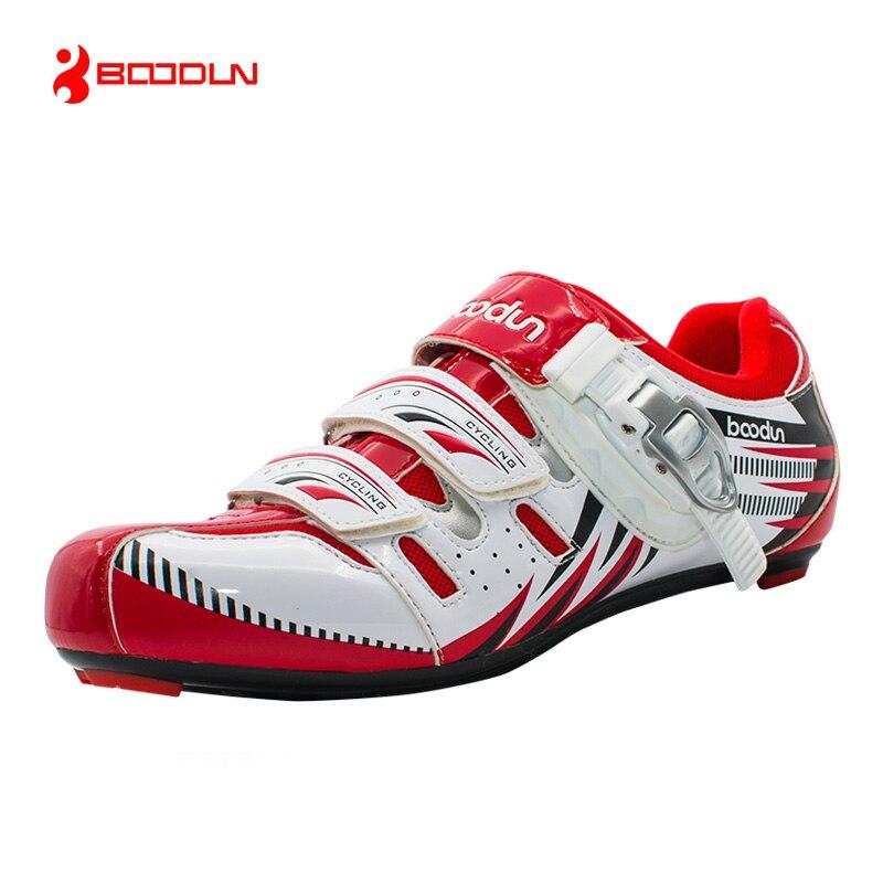 Цена за Boodun новый профессиональный велосипед обувь дышащий дорожные обувь самоконтрящаяся обувь сверхлегкий велосипед обувь велоспорт обувь sapatos де ciclismo
