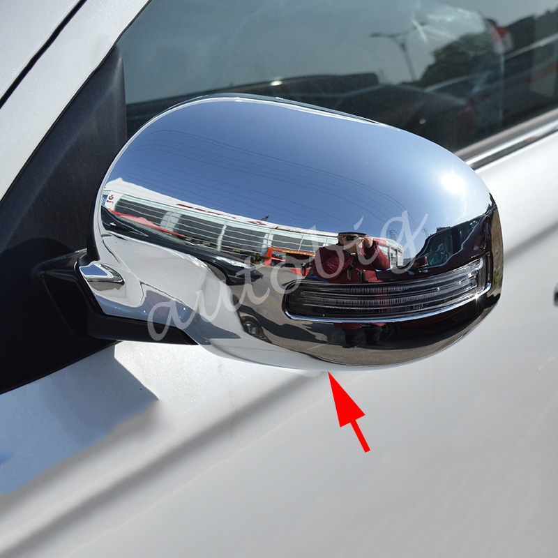 Side Mirror Cover For Mitsubishi Outlander 2013-2017 With Turn Light Chrome Rearview Molding