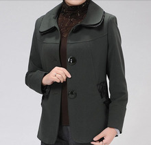 Women spring and autumn coat jacket middle-aged woman slim lace elegant coat jacket elderly mother top vestidos