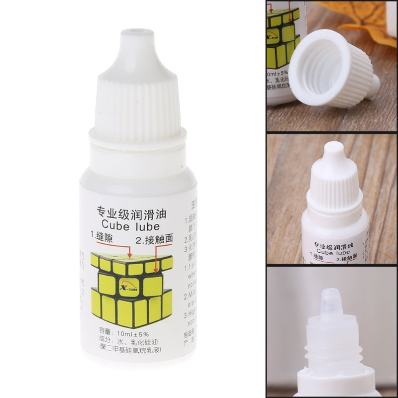 Children Like Best Silicone Lubricants Cube Lubricating Oil 10ML Cubo Magic Maru Cube Oil Funny