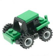 23 Pçs/set Modelo Trator Agrícola Construtor Brinquedos Do Desenhador para Meninos Meninas DT0005 Model Building Kits Compatíveis com Todas As Marcas