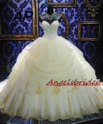 ANGELSBRIDEP Vestido De Noiva Fashion Ball Gown Wedding Dresses Sexy Sweetheart Tiered Full Length Formal Bridal