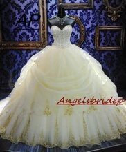 ANGELSBRIDEP Vestido De Noiva Fashion Ball Gown Wedding Dresses Sexy Sweetheart Tiered Full Length Formal Bridal Gown Plus Size