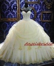 Angelsbridep vestido デ noiva 夜会服のウェディングドレスセクシーな恋人ティアード長フォーマル花嫁衣装プラスサイズ