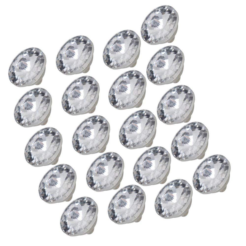 Doeltreffend 20 Stks 14mm Diamant Heldere Crystal Mooie Bekleding Sofa Decoratie Naaien Knoppen Mooi Van Kleur