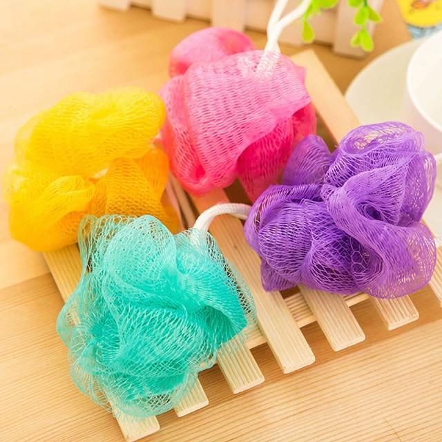 New Thick Lesbian Bath Bath Flowers Foam With Rope Hanging Brush Banheiro Bathroom  Accessories Body Brush