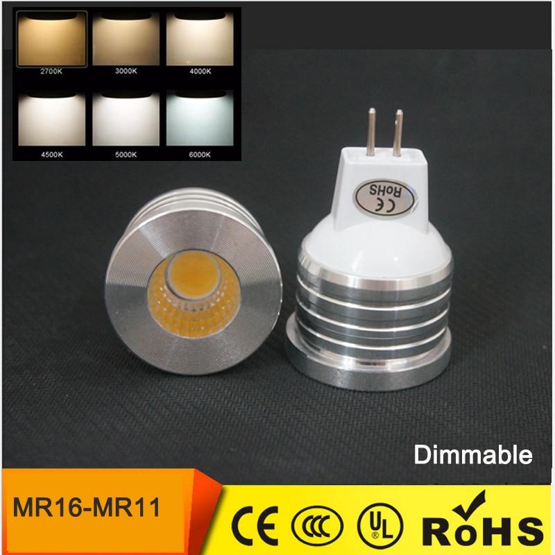 Lampadina Led mini MR16 MR11 COB SHARP LED BULBS 3W 5W 7W 12V Lampada spot cob Light lamp warm     -> Lampada Spot Led