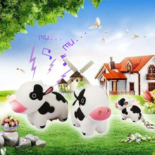 new design cute Cows LED sound luminous key chain personality portable small gifts LED flashlight wholesale