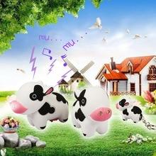 new design cute Cows font b LED b font sound luminous key chain personality portable small