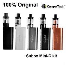100% original subox mini-c starter kit 50 w subox kanger mini c caja Vape Mod con 3 ml 0.5ohm SSOCC Kangertech Protank 5 Atomizador