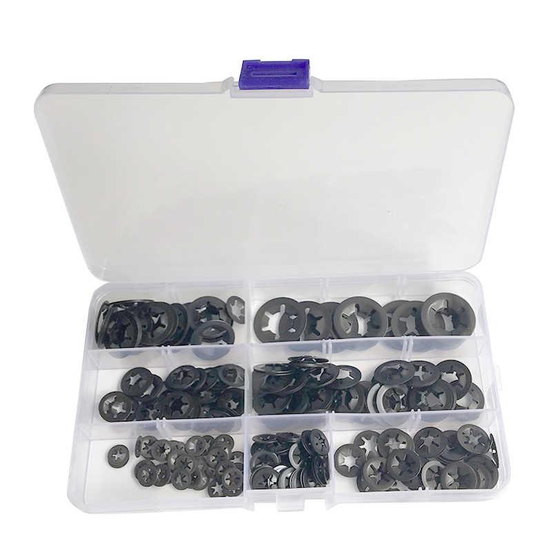 Starlock Push On Fasteners Locking Washers Speed Clips 20X 2mm,3mm,4mm,5mm 80PCE