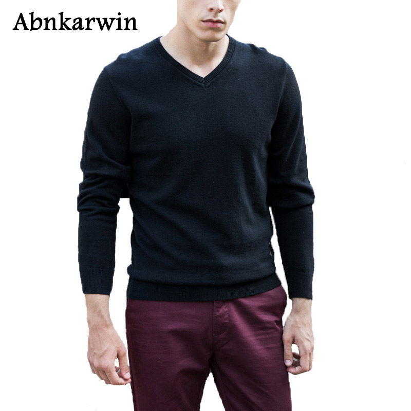 Abnkarwin Brand 2018 New Autumn Winter Casual Sweaters Men Fashion Solid Long Sleeve pullovers PST042