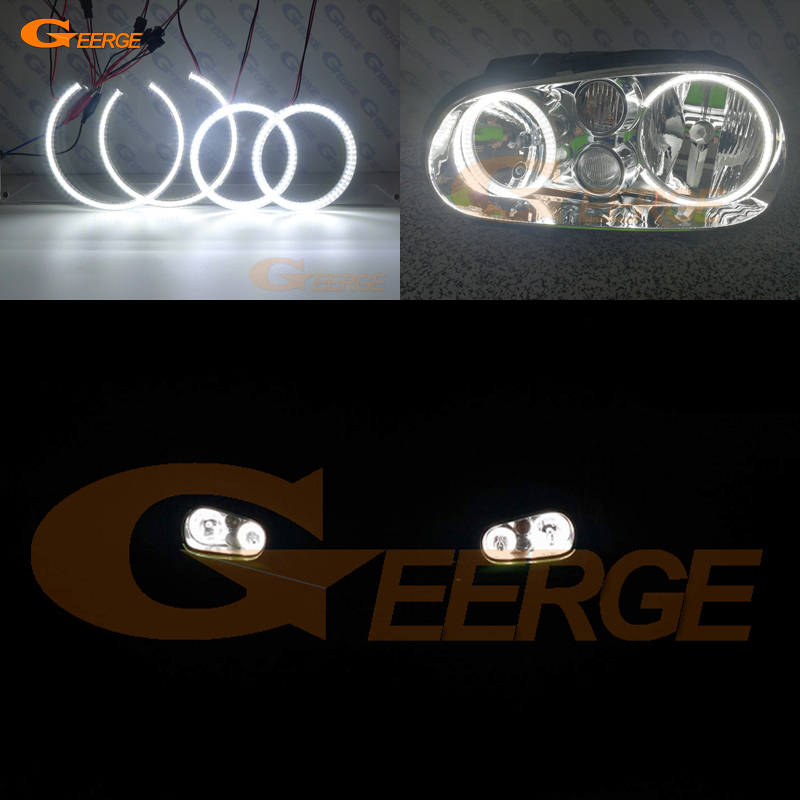 где купить For Volkswagen VW Golf MK4 R32 GTi VR6 CABRIO A4 1998-2004 Excellent Ultra bright illumination smd led Angel Eyes kit DRL дешево