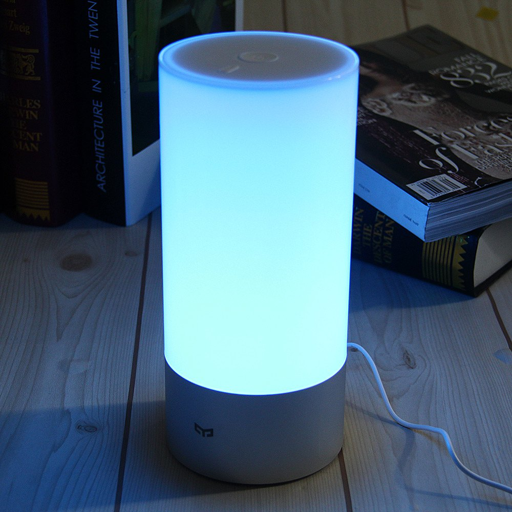 2016 Original Xiaomi Yeelight Smart Night Lights Indoor Bed Bedside Lamp 16 Million RGB Lights Touch Control Bluetooth for Phone