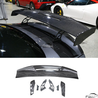 For Universal BMW M1 M3 M4 M5 M6 MAD GT Splitter Boot Car Styling Carbon Fiber Rear Trunk Lip Wing Spoiler