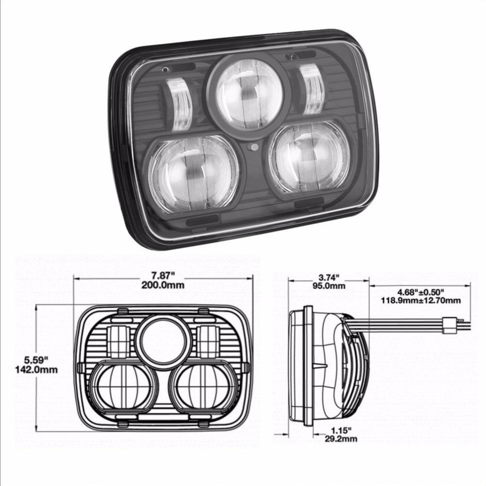 """""""8900 модель Н/Л - 5"""""""" х 7"""""""" прямоугольные LED высокого/низкого фар"""""""