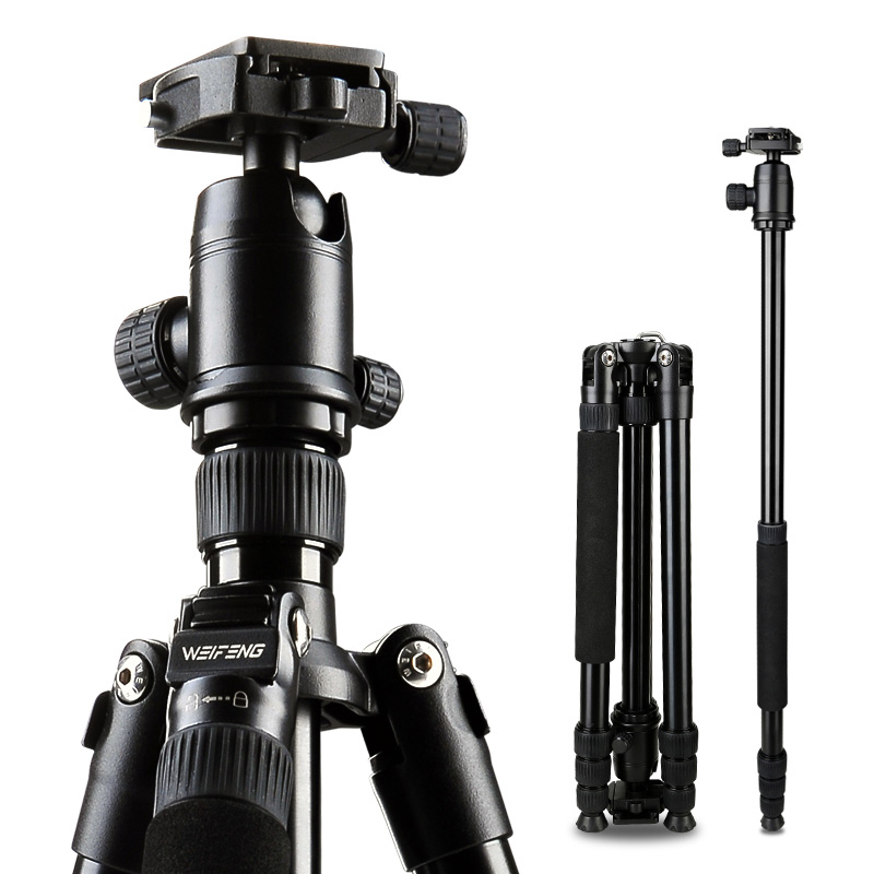 Tripod Weifeng WF-6620A WF 6620AAluminum Alloy Reflex Tripods The Portable Travel Photography For SLR DSLR Digital Camera