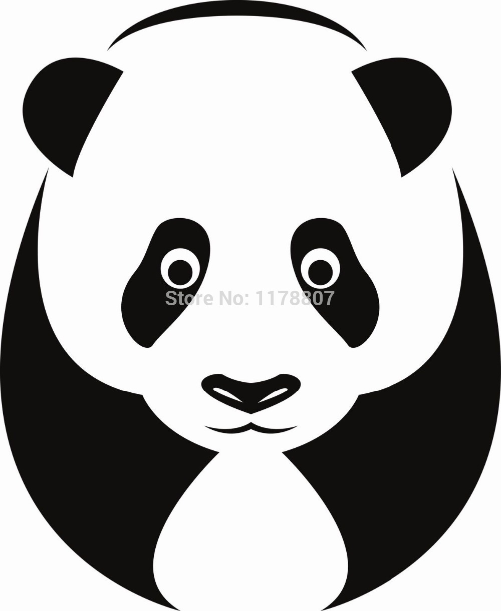 Banksy panda with guns sticker truck stickers logos and vinyl - Big Giant Friendly Panda Car Window Sticker Truck Bumper Auto Suv Door And All The Smooth Surface Vinyl Decal
