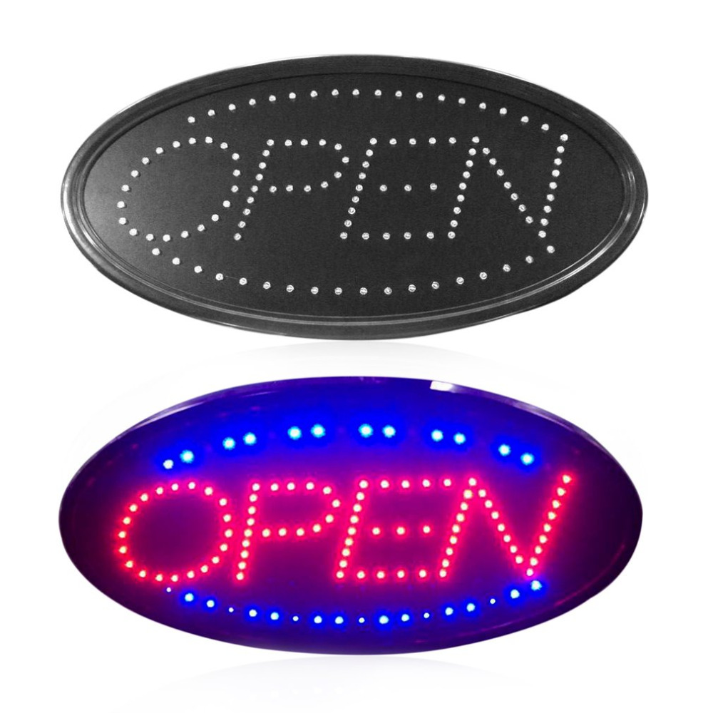LED Signe Ouvert à Lumière de La Publicité Panneau D'affichage Center Commercial Lumineux Animation D'affaires de Mouvement Magasin Ouvert Boutique Billboard NOUS/EU Plug