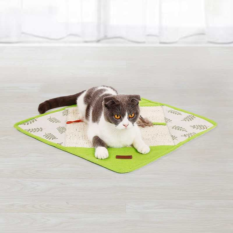 חתול חתלתול שריטה מחצלת יפני סגנון סיסל שינה מיטת מחצלת חתול חריקת קול נייר מיטת אימון צעצוע רך טפרי טיפול צעצועים