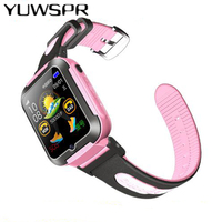 Children watch tracker watches Waterproof SOS call Location iOS Android Watches Monitoring camera mp3 Kids Wristwatch 2G E7K D