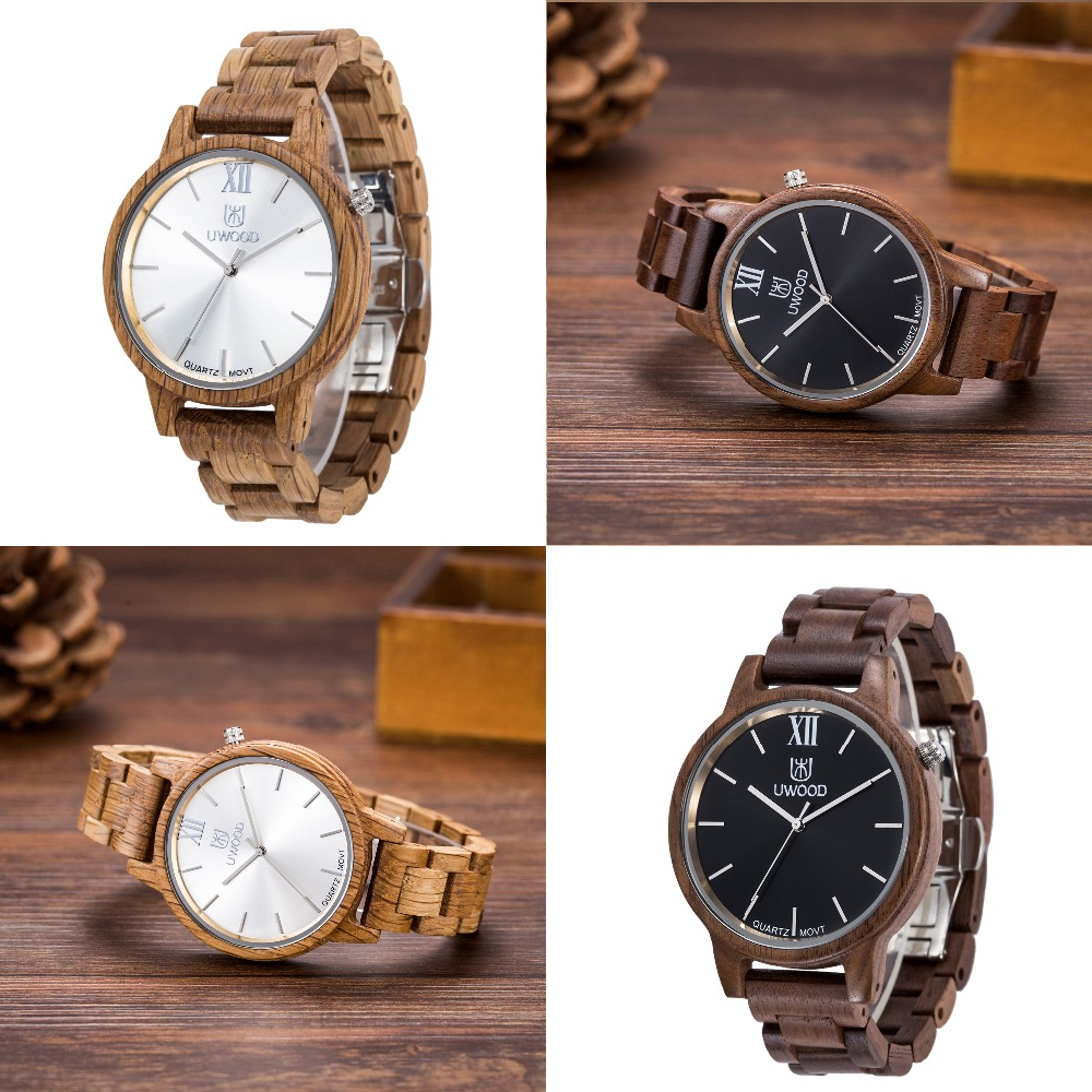 New Top Brand UWOOD Watch Wood Watches Men Business Luxury Clock Mens Wooden Wristwatch Fashion Relogio Feminino Masculino 2017 new listing men watch luxury brand watches quartz clock fashion leather belts watch cheap sports wristwatch relogio male gift