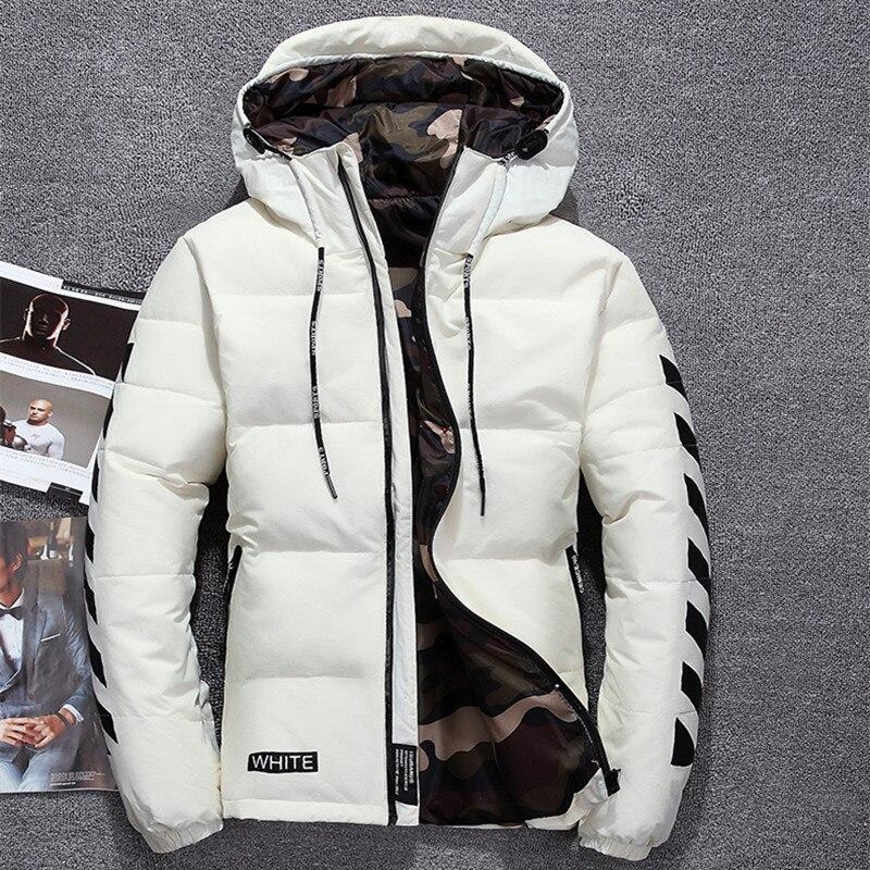 2018 winter High Quality duck   down   jacket men   coat   parkas thick Liner male Warm Clothes Rabbit fur collar plus size