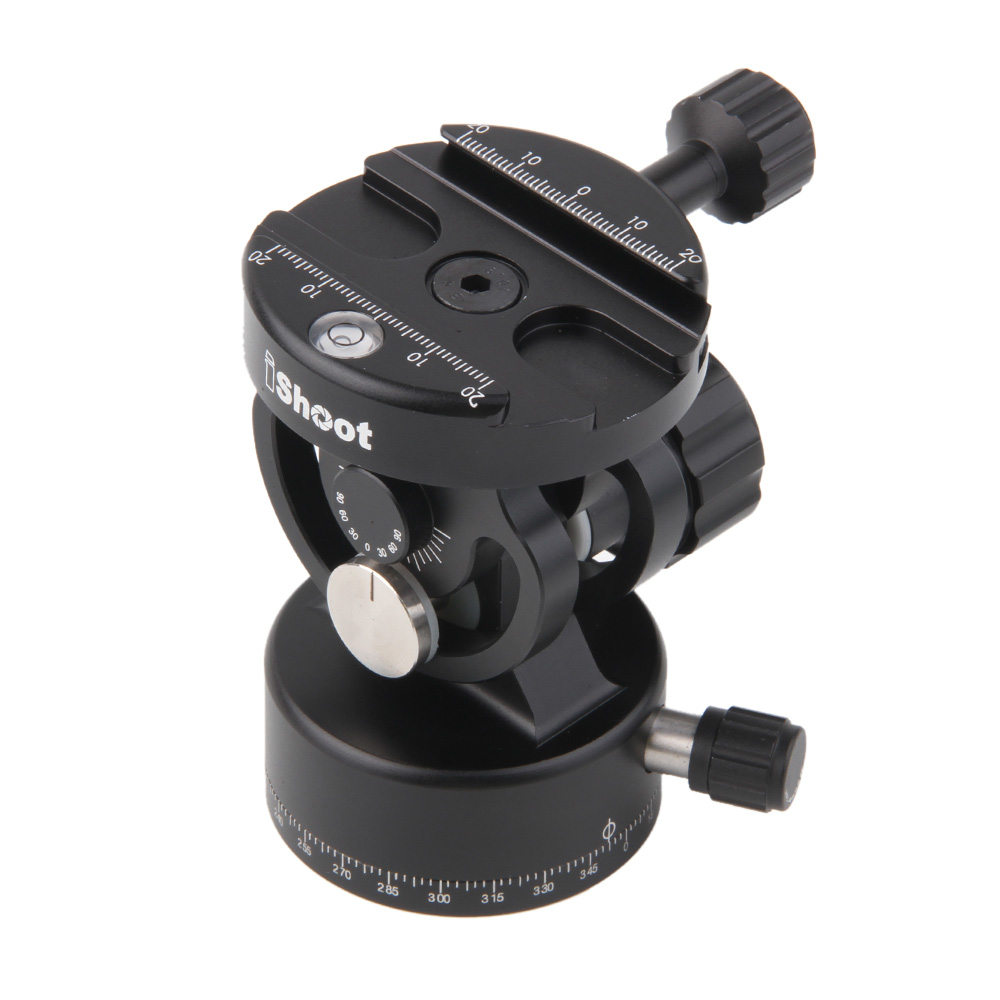 2D 360 Panning Clamp Head + Ballhead for Arca Fit Quick Release Plate Monopod штатив для фотокамеры neewer pu60 slr arca benro b0 b1 b2 j1 j0 ballhead