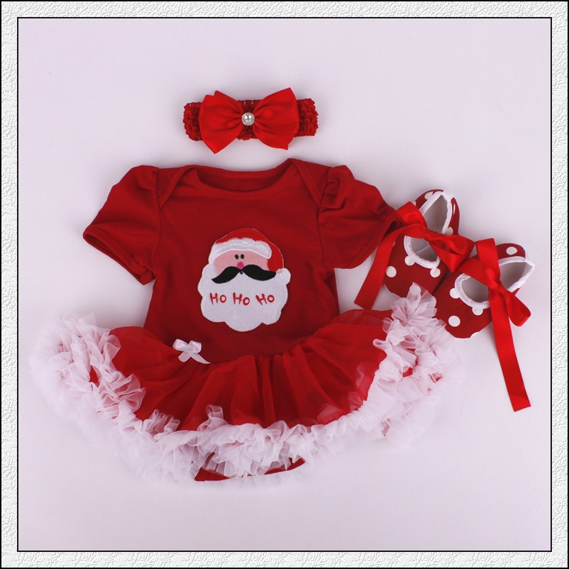Christmas Baby Rompers Baby Girls Dress Bodysuit Lace New Born Autumn Bebe Clothing Infant Clothes 3pcs/Sets 2015 new fashion baby girls 2 piece body suits tutu dress pants trouser autumn set christmas halloween bodysuit girls clothing