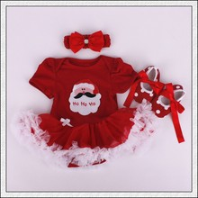Christmas Baby Rompers Baby Girls Dress Bodysuit Lace New Born Autumn Bebe Clothing Infant Clothes 3pcs/Sets