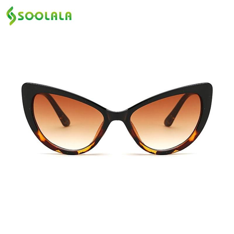 SOOLALA Butterfly Cat Eye Sunglasses Women 2017 font b Fashion b font Clear Gradient Color Lens