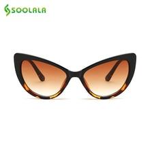 SOOLALA Butterfly Cat Eye Sunglasses Women 2017 Fashion Clear Gradient Color Lens UV400 Brand Designer Sun Glasses for Men
