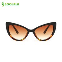 SOOLALA Butterfly Cat Eye Sunglasses Women 2017 Fashion Clear Gradient Color Lens UV400 Brand Designer Sun