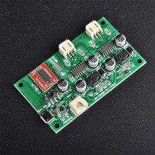 Placa amplificadora Bluetooth de 5V CC, 3,7 V, 2x6W, receptor estéreo de 2 canales, altavoces alimentados por batería de litio, caja de altavoz modificada