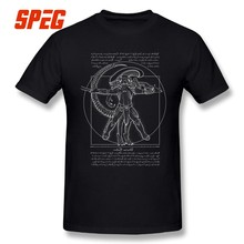 fa78c6d615219d Vitruvian Hunters Negative Alien Covenant T Shirt Alien vs Predator Man s  Short Sleeves Tops Printed T