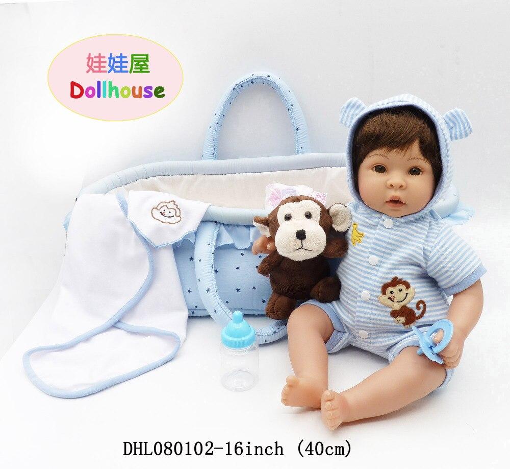 16 pouces reborn enfant poupée silicone vinyle bébé poupée jouet reborn filles poupées 40 cm reborn poupées jouets pour filles cadeaux du nouvel an