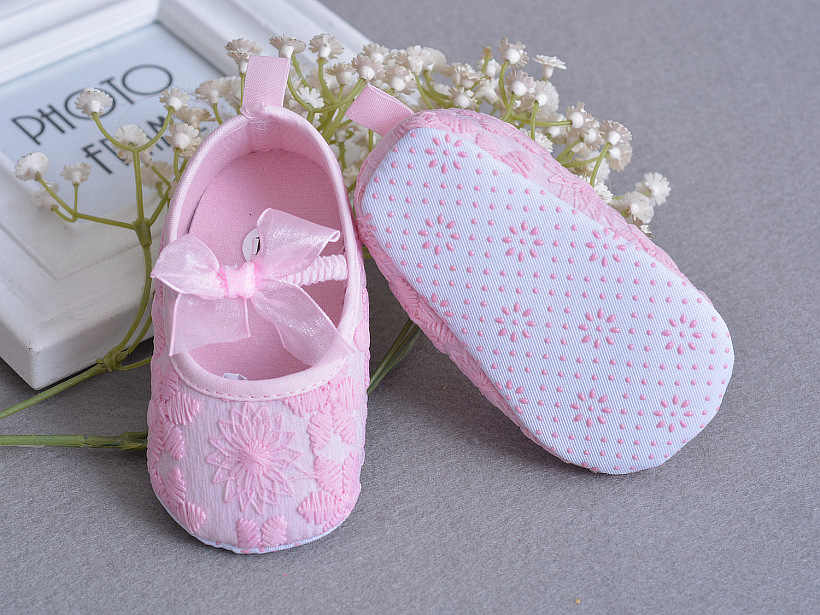 2f20fdef4f101 ... Soft Sole Flower Newborn Baby Girl Christening Shoes Headband Set 2017  Lovely Chaussure Bebe Fille Infantil ...