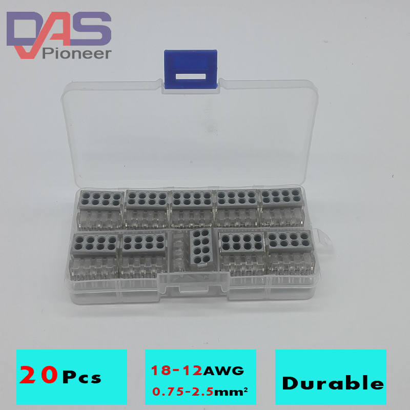 ᗛ20Pcs Cable connector for Multi-strand hard wire Cross section 1.5 ...
