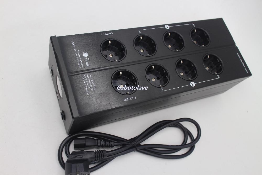 Dernière Bada LB 5610 prise EU 2 canaux Audiophile filtre de puissance prise Schuko avec USB 5V charge VU mètre montré AC110V 240 V