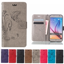 Cover For Samsung Galaxy S7 Edge S6 S4 S8 Plus A8 2018 A3 A5 S5 J7 Neo Core J3 J5 Pro 2017 J2 Prime Leather Flip Case(China)