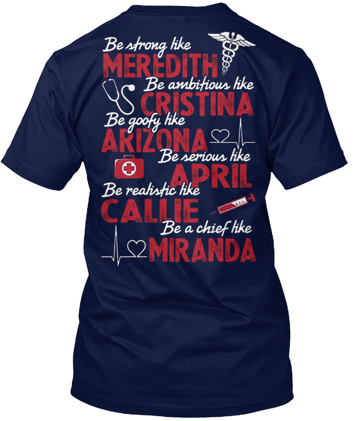 Grey Of Anatomy Xmas - Be Strong Like Meredith Popular Tagless Tee T-Shirt