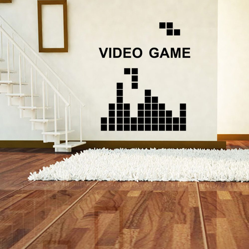 Reomvable wall stickers tetris game video game kids room game reomvable wall stickers tetris game video game kids room game decoration wall stickers in wall stickers from home garden on aliexpress alibaba group amipublicfo Choice Image