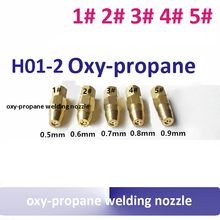 5pcs/lot  H01-2 oxy propane gas welding nozzle 1# 2# 3# 4# 5# welding tip