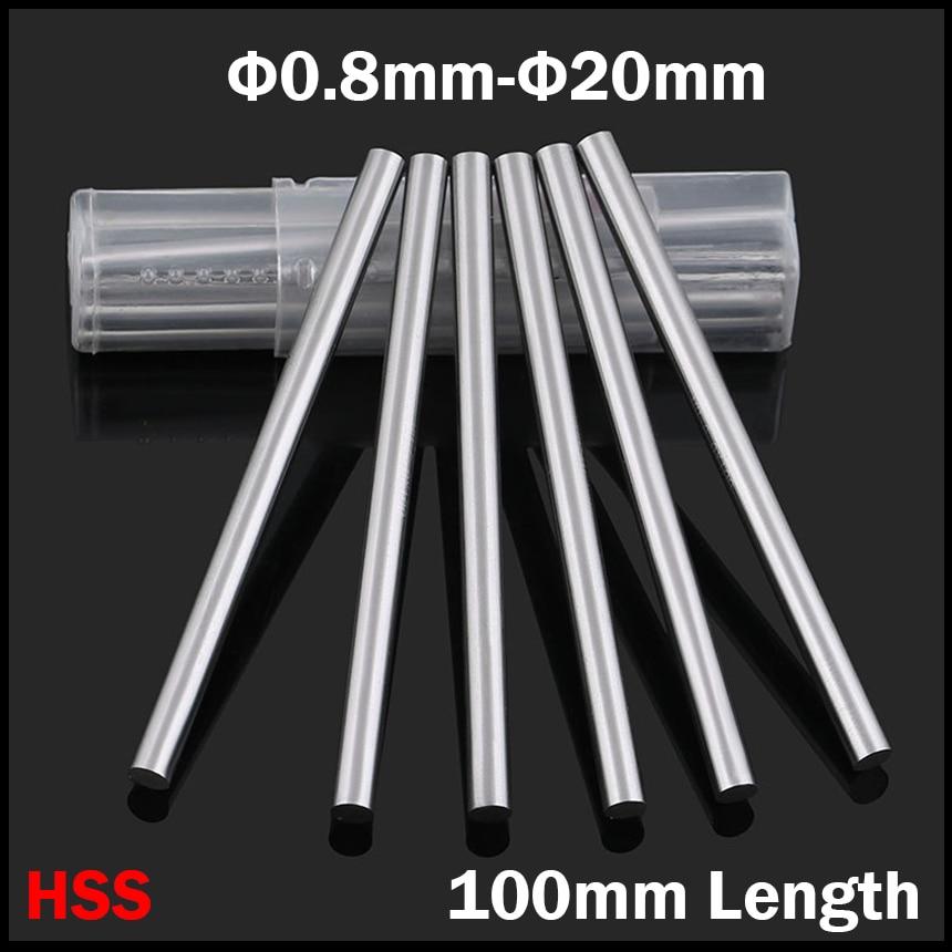 2.8mm 2.9mm 3mm 3.1mm 3.2mm OD 100mm Length HSS Jobber Drill Bit Boring Round Shank CNC Fly Cutter Turning Lathe Tool Bar Rod