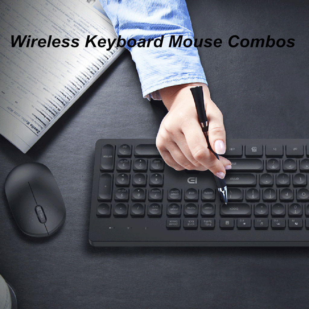 2.4GHz USB Wireless Keyboard And Mouse Combos For Fashion Office Business Teclado Sem Fio For Smart TV Laptop Computer PC Gamer-in Keyboard Mouse Combos from Computer & Office