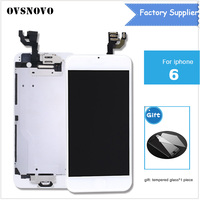 3pcs For IPhone 6 4 7 Lcd Touch Screen Digitizer Display Replacement Home Button Front Camera