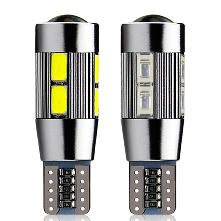 Car Styling!! 2pcs Car Auto LED T10 194 W5W Canbus 10 smd 5730 LED Light Bulb No error led light parking T10 LED Car Side Light